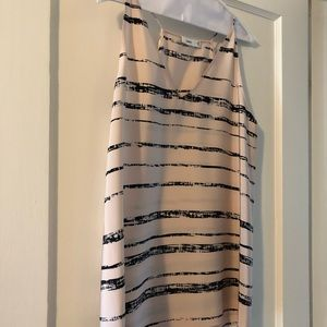 Vince pink/black stripe cami